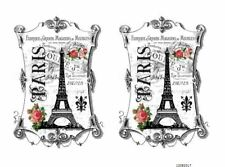 VinTaGe IMaGe FRenCh PaRiS SiGN LaBeL ShaBby WaTerSLiDe DeCALs FuRNiTuRe FL8
