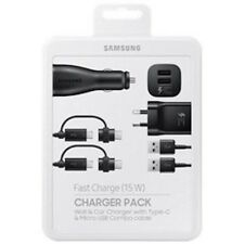 Genuine Original Samsung Power Pack With Wall and Car Charger Plus Two Type-c/Mi