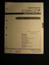 Yamaha Digital Equalizer DEQ7 Service Shop Manual Schematics Parts List DEQ-7