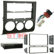 MITSUBISHI 380 2004-2010 SINGLE/DOUBLE DIN FACIA FASCIA KIT + ISO WIRING HARNESS