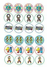 24 Edible cake toppers wafer rice paper Autism Awareness
