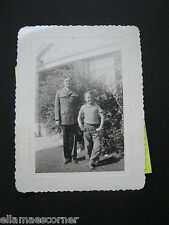 Vintage 1943 Photo with Soldier and His Brother
