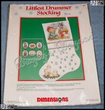 Dimensions LITTLEST DRUMMER STOCKING Nativity Christmas Stamped Cross Stitch Kit