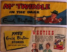 WEETIES AUSTRALIA CEREAL GIVEAWAY PROMO ENID BLYTON MR TWIDDLE IN THE DARK VG