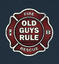 "Old Guys Rule "" Badge Of Honor "" Fire And Rescue Beach S/S Size L"