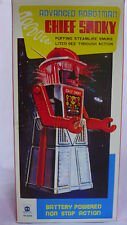 CHIEF SMOKY TIN TOY ROBOT  Battery Operated light-Ups Mystery Action Puffs Smoke
