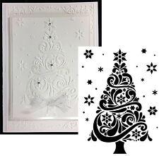 Christmas Tree Swirl Embossing Folder Darice embossing folders 1218-118 Holidays