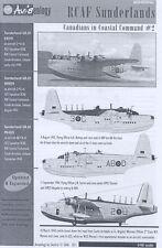 Aviaeology Decals 1/48 ROYAL CANADIAN AF SHORT SUNDERLAND in COASTAL COMMAND