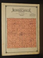 Minnesota Redwood County Map Granite Rock Township 1914 W3#64