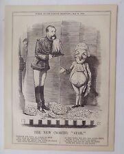 Revista Punch antiguo libro de impresión de 1874 la nueva estrella del norte sátira 10x8 pulgadas