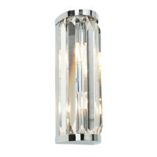 SAXBY CRYSTAL Decorative G9 Bathroom Wall Light in Chrome with Glass IP44 39629