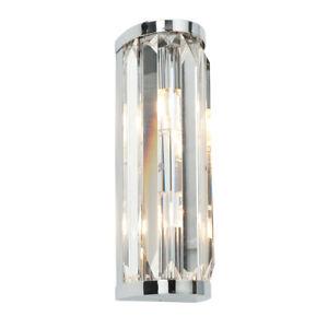CRYSTAL Bathroom G9 Indoor Wall Light - Chrome & Clear Glass - Waterproof IP44