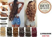 Perruque Extensions Cheveux Synthetiques Bouclés A 5 Clips 40 cm Hair Extension