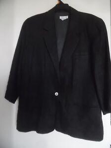 Talbots Black Linen  Blazer  Jacket Career Classic  Sz 12