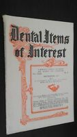 Revista Dental Items de Interes N º 9 Septiembre 1927 ABE