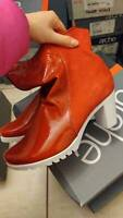 ARCHE red patent leather heeled boots ankle boots EU38 UK5 US7.5