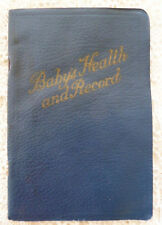 Vintage Baby's Health and Record Book 1929 Nursery/Food/Layette/ Calgary AB Ads