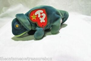 TY McDonalds Teenie Beanie Babie Iggy the Iguana 1999 Pellets