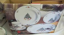 WHIMSICAL CHRISTMAS TREE DINNERWARE IN BOX SALEM CHINA 20 PIECE SET