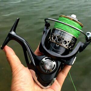4.7:1 Spinning Fishing Reel Roller Coil Wheel 13 Bearings Metal Spool Left Right