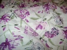 King Size Flat & Fitted Sheet....Tranquil Night...Purple Floral...100% Polyester