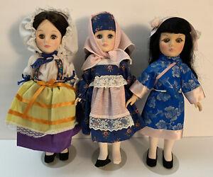 Lot of 3 Vintage 1970s Effanbee International Dolls Greece China Romania