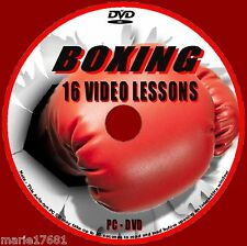 BOXING COACHING WORKOUTS OVER 4 Hrs AVI TRAINING TUTORIAL ON PC VIDEO DVD NEW