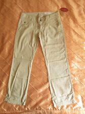 EDC BY ESPRIT DAMEN WOMEN COMFORT FIT PLAY LEINEN BEIGEGRAU XL 42/32 REGULAR NEU