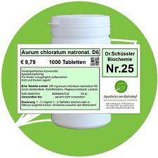 Schüßler-Salz Nr.25 Aurum chlor.natr. D6 1000 Tabl. PZN 08003914
