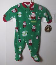 Carter's Child of Mine Newborn Christmas romper Santa Snowmen Penguins