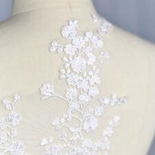 Sew On Applique Large Lace Plum Blossom Floral Patch Wedding Dress Trim DIY Chic