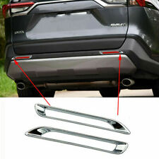 ABS Chrome Accessories Rear Fog Light Lamp Cover Trim Fit For 2019 Toyota RAV4