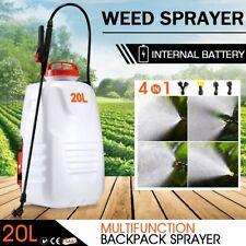 20L Weed Garden Backpack 4 Nozzle Pump Tank Hose Lance Belt Sprayer