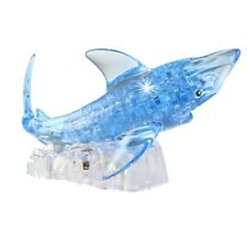 3D Crystal Puzzle Jigsaw Model DIY Shark IQ Toy Furnish Gadget Gift Kids Toy