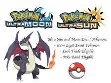 Pokemon Ultra Sun and Moon Spring 2015 Shiny Charizard Event Pokemon