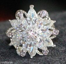Hot 925 silver Filled White sapphire Birthstone Engagement Size6 Ring Gift339