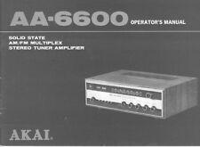 Akai AA-6600 Tuner Owners Instruction Manual