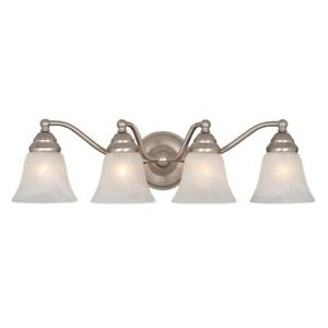 Vaxcel Standford 4L Vanity Light Brushed Nickel - VL35124BN
