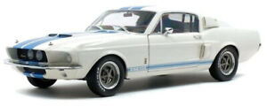 Shelby Ford Mustang GT500 1967 1:18 - White with Blue Stripes (Solido 1802901)