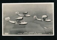 Aviation Military Reconnaissance Flying Boats SARO LONDON II  c1930s? RP PPC