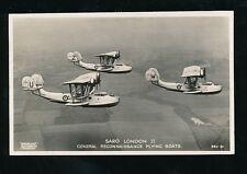 Aviation Military Reconnaissance Flying Boats SARO LONDON II  c1930s? RP PPC