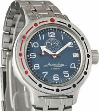 Russian Mechanical Automatic Wrist Watch Vostok Amphibian Dive Gru 420866