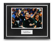Francois Pienaar Signed Photo Framed 16x12 Rugby Autograph Memorabilia Display