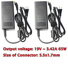 Lot of 2 Charger AC Adapter For Acer Travelmate 4000 4050 4200 520 3270 340