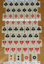 Solitaire Tiles Game Parts 56 plastic tiles playing card suits