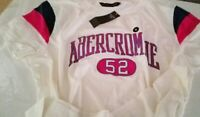 Abercrombie Short-sleeve tee with logo graphic and cool varsity- T Shirt Size M
