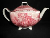 Johnson Brothers Made in England Old Britain Castles Pink Tea Pot Unused w2s8