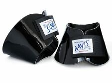 Davis Horse Boots No Turn Bell Hoof Over Reach Jumping Protection Black Large