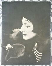 Marcel Marceau lithography in his wonderful program PORTE SAINT-MARTIN PARIS1978
