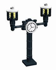 Lego 3x Lampe mit Uhr - Laterne - für Lego® -City - Stadt - Zug-9V-12V - Bahnhof